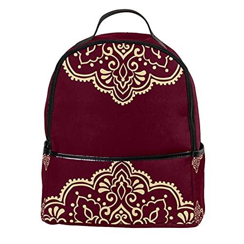 FURINKAZAN Mini-Rucksack aus PU-Leder im arabischen Stil, arabisches Muster, Geldbörse, modischer Reiserucksack