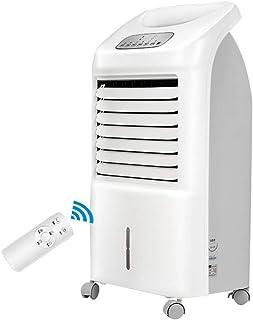 Cooling Fan LDM Multifuncional Climatizador Portatil,hogar Enfriador Portátil Aire Acondicionado,55W, 3 Modos Opcionales, con Control Remoto 7 Horas Temporizador Blanco