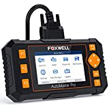 FOXWELL Scan Tool NT634 Obd2 Scanner Automotive Code Reader 4 Systems Diagnostic Tool for Engine Transmission ABS SRS with Oil EPB SAS TPMS Throttle Body Reset BRT CVT Injector Gear Learn
