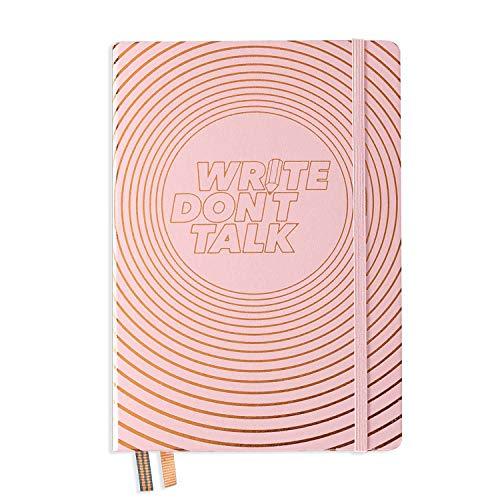 Leuchtturm1917 - Write Don't Talk - Special Edition Notizbuch, Hardcover, A5, gepunktet, in passender Geschenkbox, puder