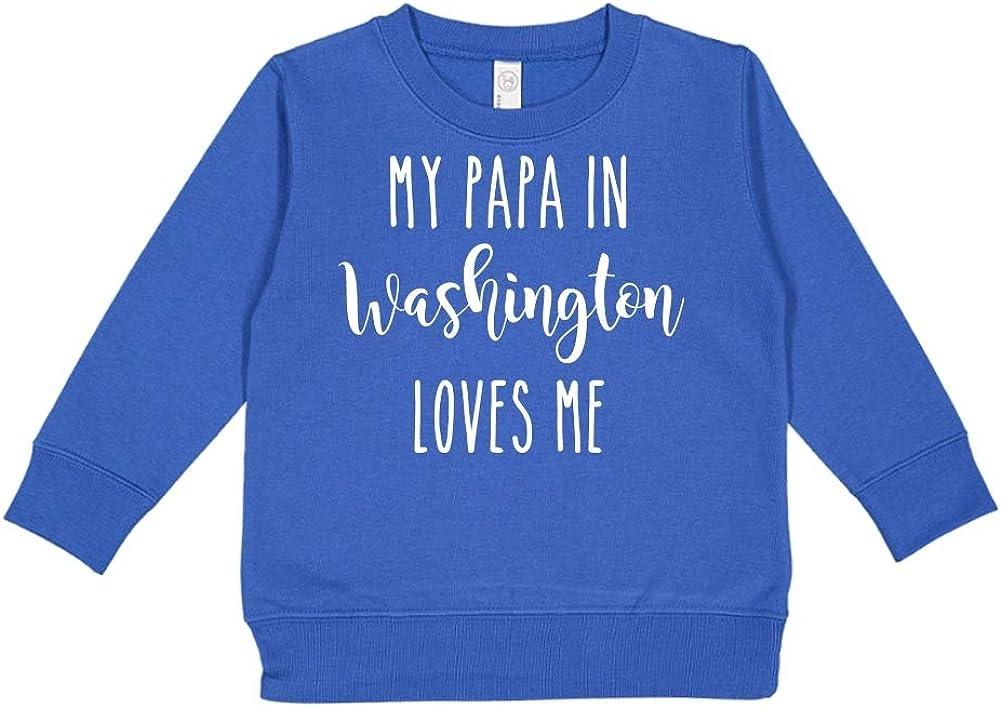 Toddler//Kids Sweatshirt My Papa in Washington Loves Me