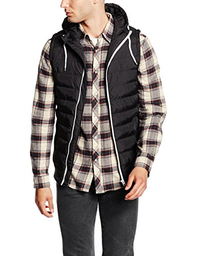 Urban Classics Small Bubble Hooded Vest Weste blackwhite, L