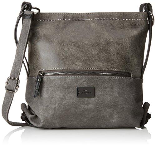 TOM TAILOR Umhängetasche Damen Elin, Grau (Grau), 9x26x28.5 cm,, Damen Handtasche TOM TAILOR Handtaschen, Taschen für Damen, klein