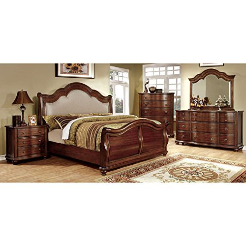 Purchase Carefree Home Furnishings Bellavista Traditional Elegant Style Brown Cherry Finish Cal.King...