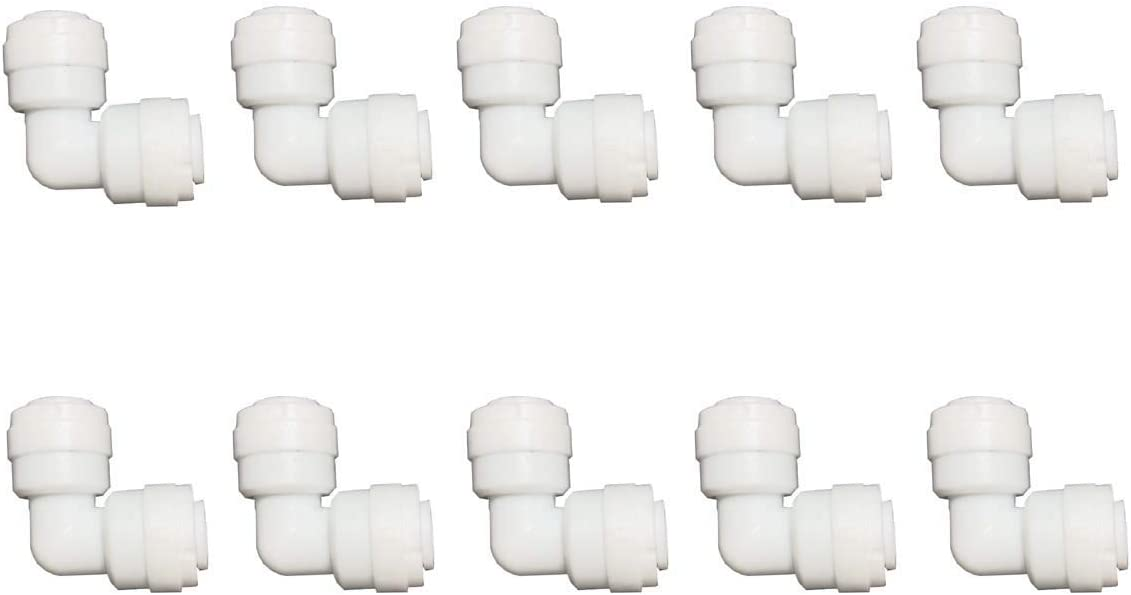 Malida water purifiers Tube Quick Connector Fittings Set of 10 (3/8