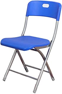 RONGJJ Silla de Escritorio Plegable Silla de Escritorio Silla de Entrenamiento de Personal Oficina con Respaldo Recepción Plástico Azul Acolchado,