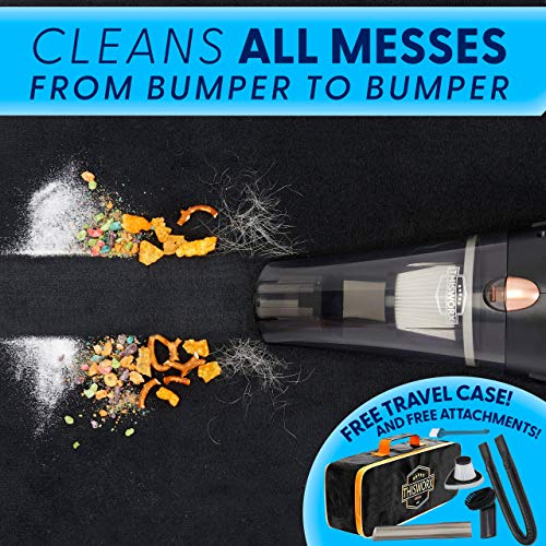 Portable Car Vacuum Cleaner: High Power Corded Handheld Vacuum w/ 16 foot cable - 12V - Best Car