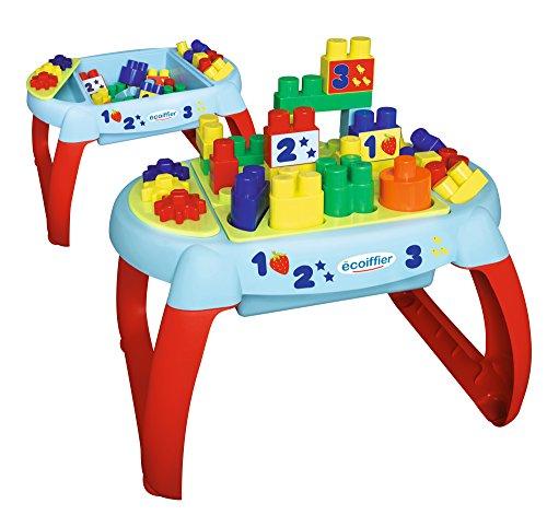 Jouets Ecoiffier -7763 - La table d'éveil Abrick Maxi – Jeu de construction pour enfants – 32 pièces – Dès 12 mois – Fabriquée en France