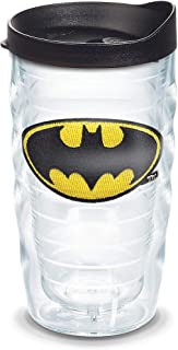 Tervis Batman Tumbler with Emblem and Black Lid 10oz Wavy, Clear