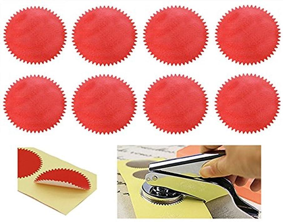 MNYR 100pcs RED Vintage Embosser Stamp Sealing Blank Certificate Self-Adhesive Seal Stickers