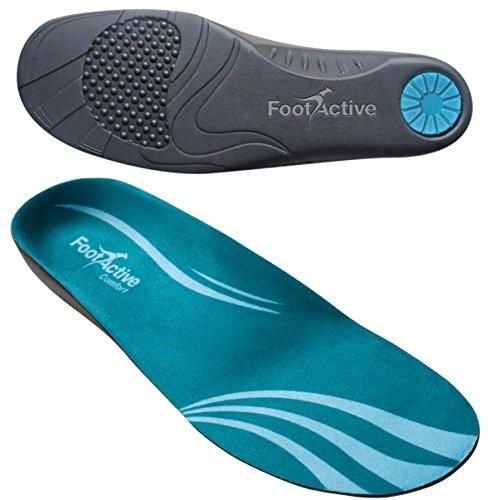 FootActive COMFORT Premium - Federleichter Laufkomfort für Füße, Bein und Rücken, speziell bei Fersensporn, Blau, 44 - 45 (L)