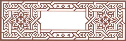 INDIGOS 4250380556192 Wandtattoo w238 Orient, Ranke 80 x 19 cm, schwarz
