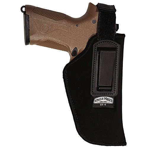 Uncle Mike's Kodra Nylon Inside-The-Pant Holster with Retention Strap (Black, Size 15, Right Hand)
