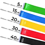 Best Fitness Resistance Bands Set of 5 Simplify Exercise Workout...