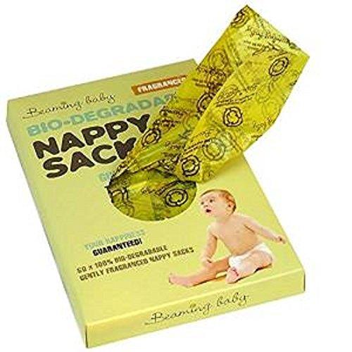Beaming Baby Bolsas de pañales biodegradables con fragancia (60 sacos)