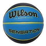 Wilson WTB9118XB0702 Pelota de Baloncesto Sensation Caucho Interior y Exterior, Unisex-Adult, Azul, 7