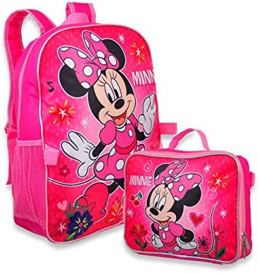 Minnie Mouse Girl s 16 Backpack W Detachable Lunch Box Pink Size One Size product image