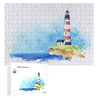 海辺の海景の灯台 300ピースのパズル木製パズル大人の贈り物子供の誕生日プレゼント