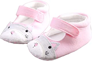 Hopscotch Baby Girls 100% Fabric Animal Applique Booties in Pink Color, UK:3 (HSZ-3144249)