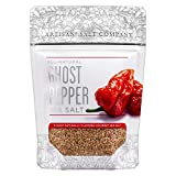 SaltWorks Natural Fusion Ghost Pepper Flavored Sea Salt, Artisan Zip-Top Pouch, 4 Ounce
