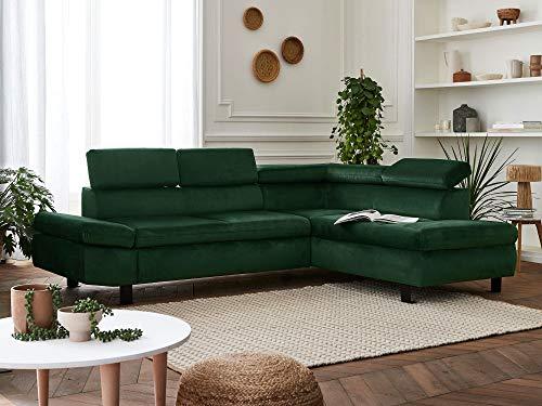 Canapé d'angle 5 places Velours Design