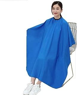 Barber Gown Cloth Waterproof Haircut Cape Non-stick hair Unisex Hair Conditioning Hot Oil Shawl Cloth blue