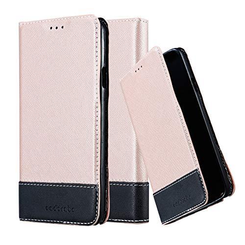 Cadorabo Hülle für Samsung Galaxy Note 3 NEO in ROSÉ Gold SCHWARZ – Handyhülle mit Magnetverschluss, Standfunktion & Kartenfach – Hülle Cover Schutzhülle Etui Tasche Book Klapp Style