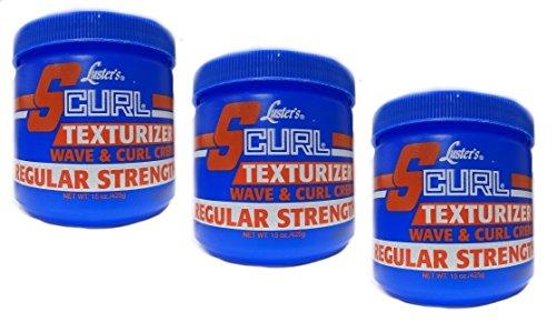 3x Lusters Luster SCURL Texturizer Wave & Curl Creme REGULAR STRENGTH 425g (insgesamt - 1275g)