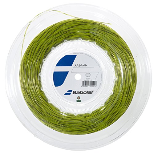 Babolat SG Spiraltek 200M, Corde Unisex – Adulto, Giallo, 130