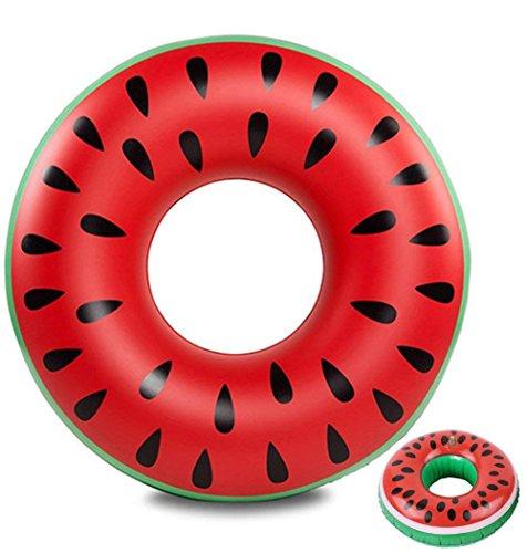 浮き輪 大人用 スイカ 120�p 男女兼用 うきわ ドリンクホルダー付き プール 海水浴 水遊び