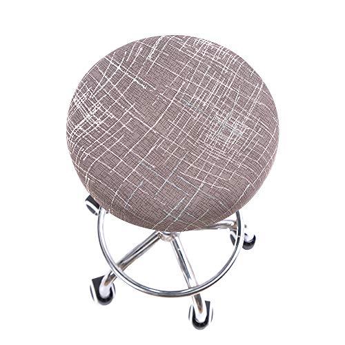 Jodimitty Funda protectora redonda para silla extraíble, suave, elástica, estilo nórdico, color rosa
