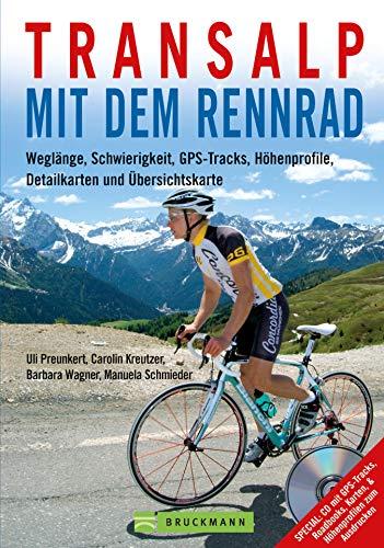 Transalp mit dem Rennrad: Weglänge, Schwierigkeit, GPS-Tracks, Höhenprofile, Detailkarten und Übersichtskarten