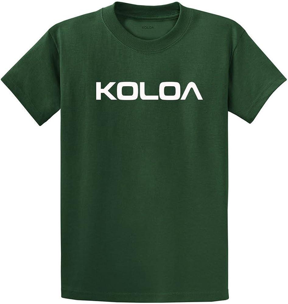 Joe's USA Koloa Surf(tm) Text Logo Cotton T-Shirts in Size 2X-Large Tall -2XLT Dark Green