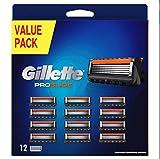 Gillette Fusion5 ProShield - Cuchillas de afeitar para hombres - 12 piezas