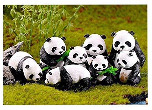 Adornos Jardín Miniatura, 8 Pcs Mini Figuras Jardín