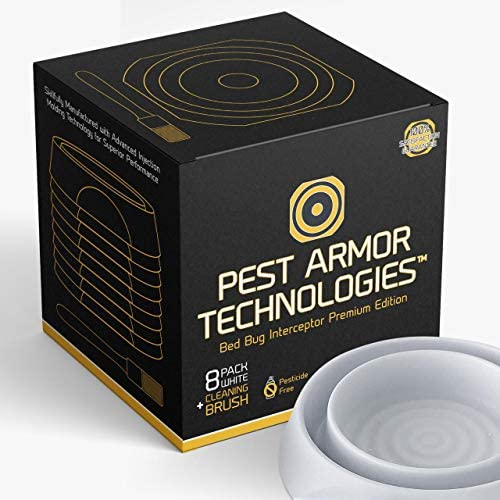 Pest Armor Technologies Bed Bug Interceptors 8 Pack White Premium Edition Bed Bug Trap Eco Friendly product image