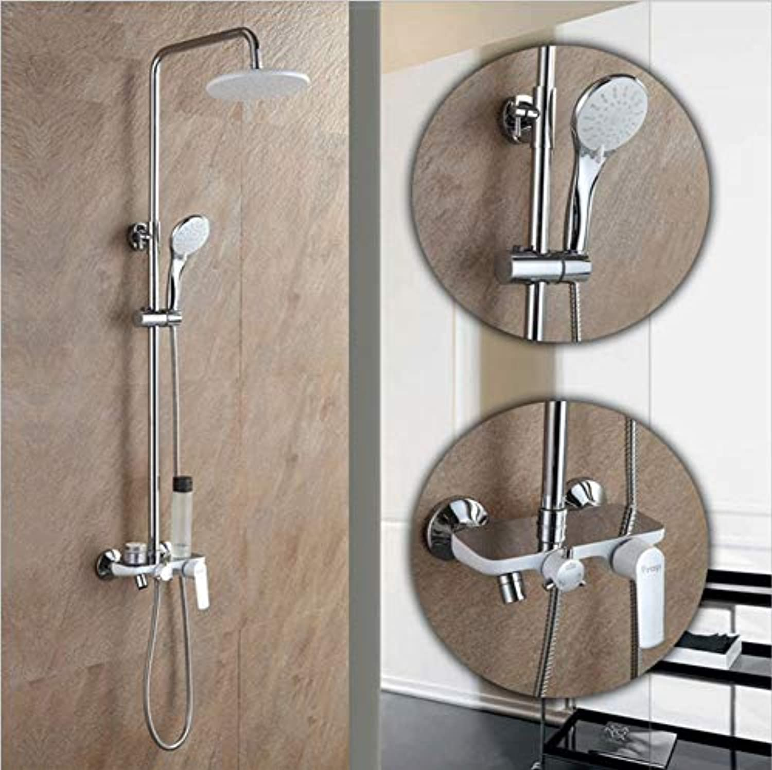 Makeyong Fashion Style Weiß Shower Faucet Cold and Hot Water Mixer Single Handle Adjustable Rain Shower
