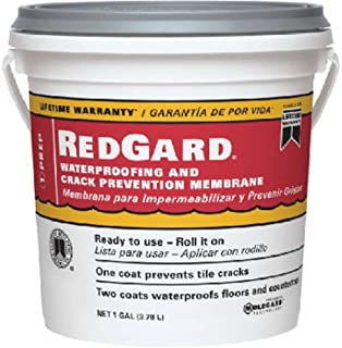 CUSTOM BLDG PRODUCTS LQWAF1-2 Redgard Waterproofing, 1 gal