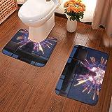 Decoración del hogar Alfombras y moquetas Alfombras de baño Hogar y cocina Anime Theme ONE Punch Man Saitama Bathroom Antiskid Pad Non-Slip Bath Carpet Floor Mat Rug 2 Sets -Floor Mat+U-Shaped Pad, To