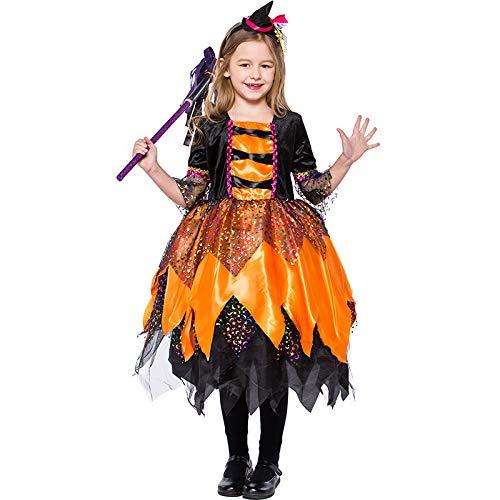 MTSBW Disfraces De Brujas Naranjas De Halloween Cosplay Al Aire Libre,M