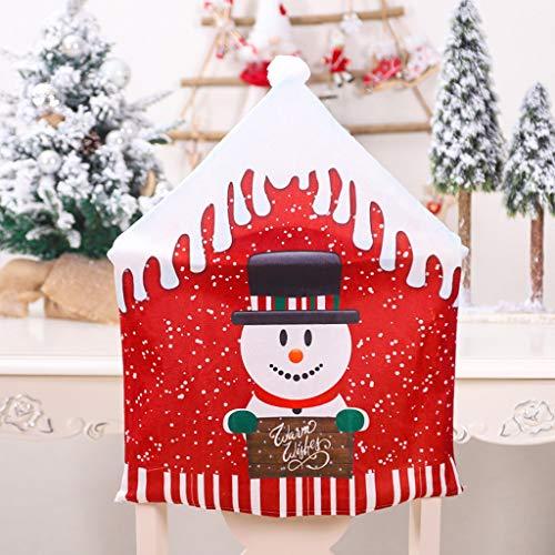 Alwayswin Weihnachten Stuhlabdeckung Weihnachtsdekoration Stuhlhussen Esszimmer Sitz Weihnachtsmann Home Party Decor Vielseitige Stuhlabdeckung der...