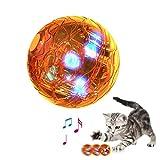 Draulic Katzenspielzeug Haustier LED Rolling Ball Spielzeug Interaktives Necken - Spielzeug Elektrisch Automatisch Rotierend Lustiges Katzenspielzeug Für Kätzchen