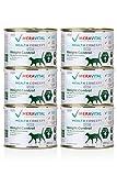 MERAVITAL Weight Control Katzenfutter nass 6 x 200 g für Katzen fördert Fettverbrennung für gesundes und schmackhaftes Abnehmen bei Übergewicht