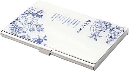 Chinoiserie Edelstahl Handelsname-Kredit-ID-Kartenhalter-Kasten,G : B�robedarf & Schreibwaren