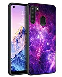 KANGYA Case for Samsung Galaxy A21, Galaxy A21 Phone Case Slim Fit Glow in The Dark Shockproof Hybrid Hard PC Soft TPU Bumper Protective Phone Cover for Samsung Galaxy A21 (2020), Nebula