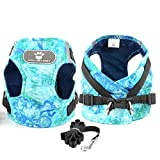 Zunea Small Dog Harness and Leash Set No Pull Adjustable Reflective Step-in Puppy Cotton Padded Comfort Vest Escape Proof Cat Harnesses for Walking Training for Boy Girl Pet Chihuahua Green M
