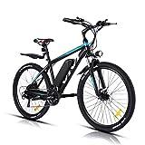 VIVI Bicicleta Eléctrica 26'' E-Bike, 350W Bicicleta Eléctrica de Montaña, Bici Electrica para Adulto, Bicicleta Eléctrica con 36V 10.4Ah Batería de Litio extraíble, Shimano 21vel (Azul)