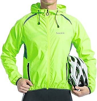 Santic Men's Windproof UV Protection Cycling Jacket Long Sleeve Wind Coat