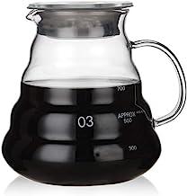 Numeo Coffee Server Kettle Coffee Maker Teapot Heat Resistant Glass Hand Drip Coffee Pot, 350ML