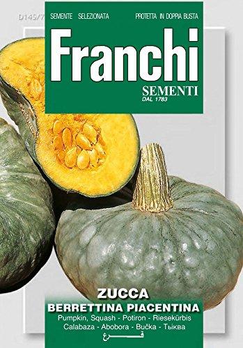 Franchi Sementi DBO145-7 Riesenkürbis Berrettina Piacentina (Kürbissamen)